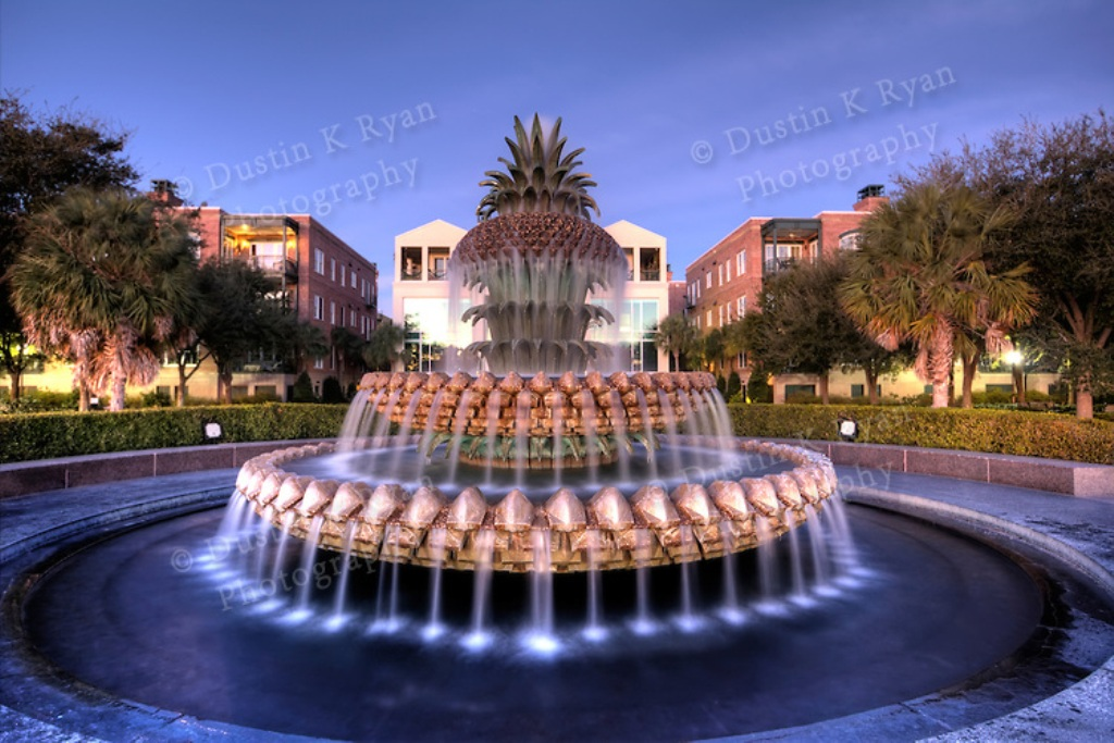Image of: Charleston Pineapple Fountain Address
