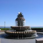 Charleston Pineapple Fountain Art