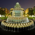 Charleston Pineapple Fountain Photography