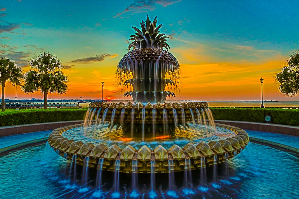 Charleston Pineapple Fountain Replica