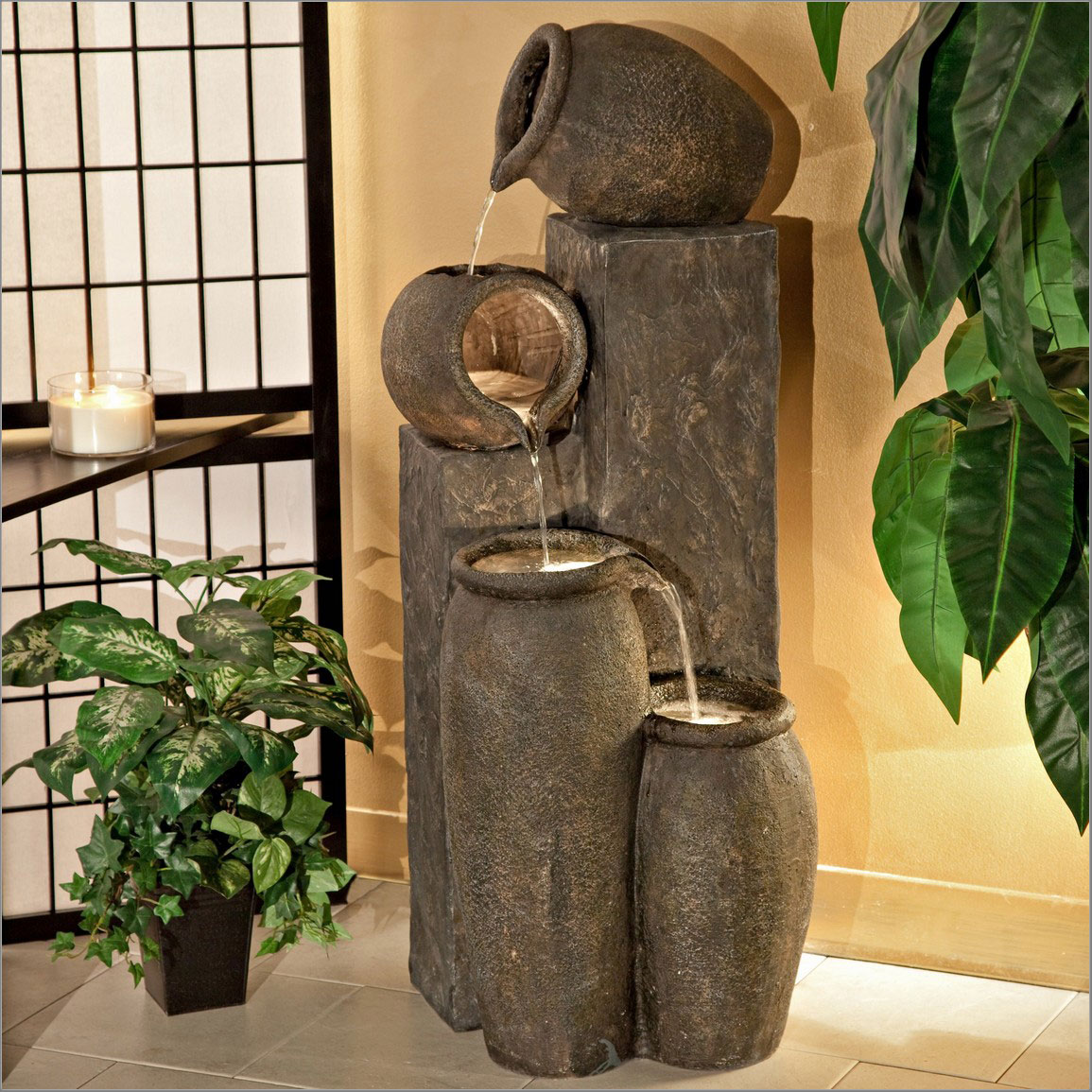 Image of: Cheap Water Fountains Corner