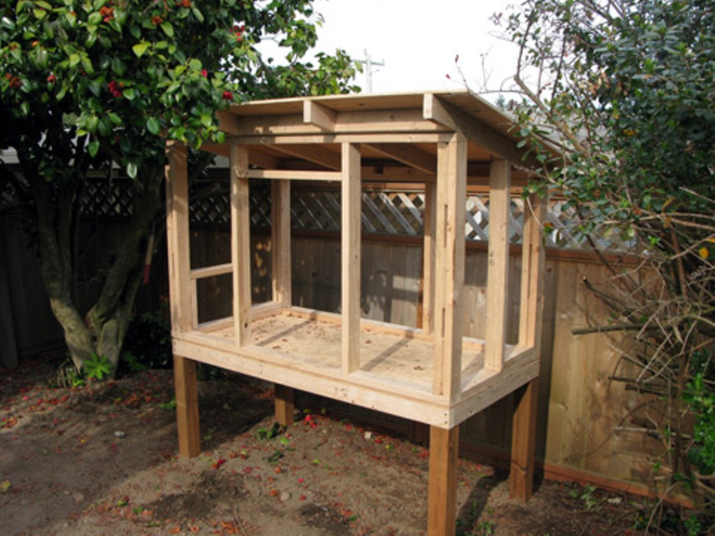 Image of: Chicken Coop Roof Material