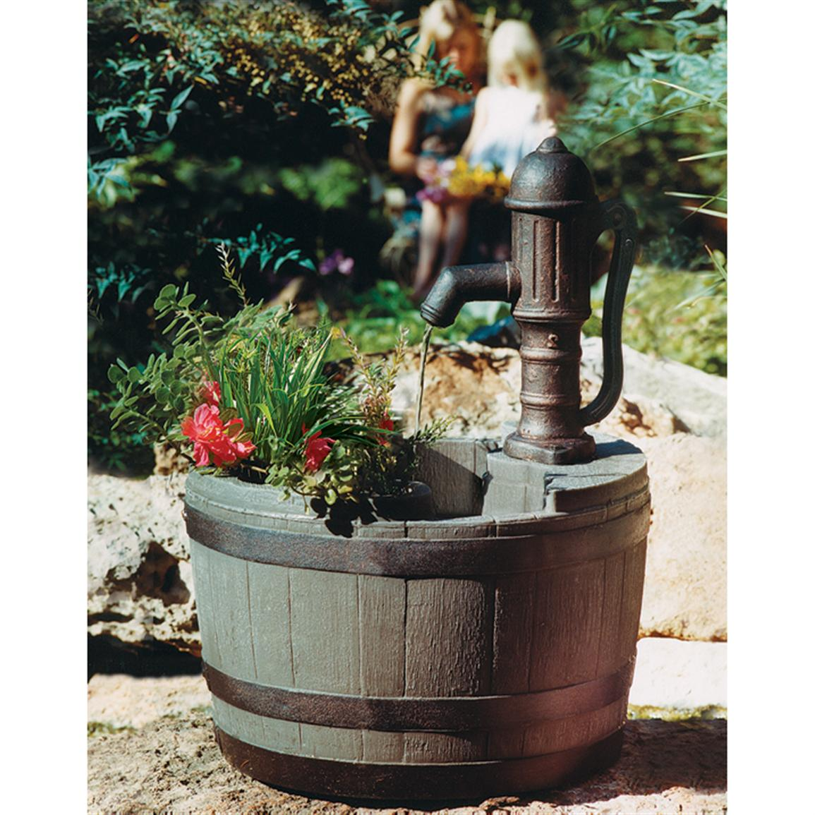 Image of: Classic Barrel Fountain