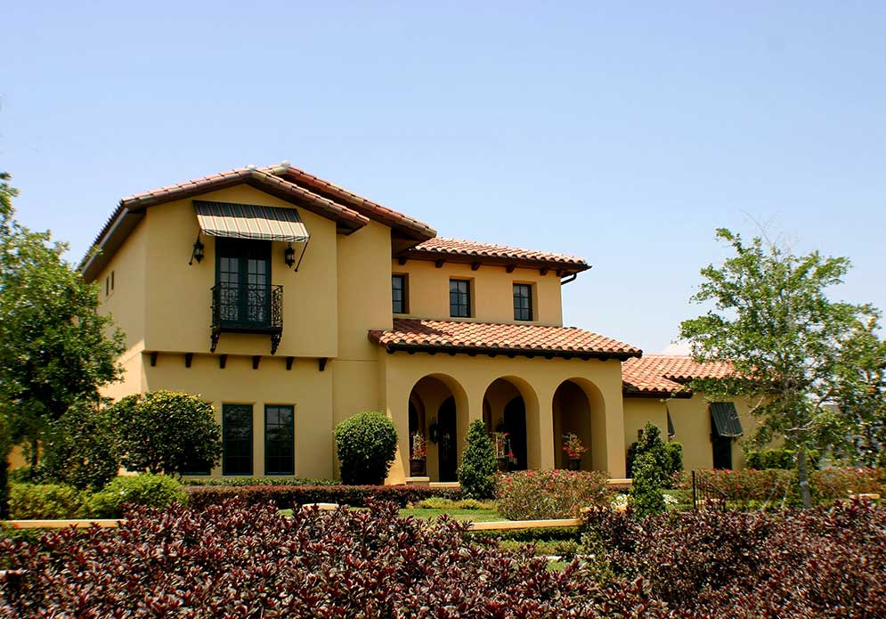 Image of: Clay Tile Roofing House