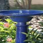 Cobbled Bird Bath Fountain Solar