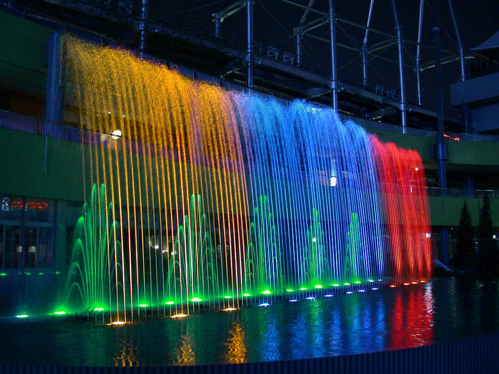 Image of: Colorful Commercial Water Fountains