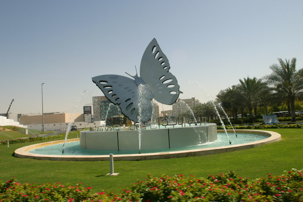 Image of: Commercial Butterfly Fountain