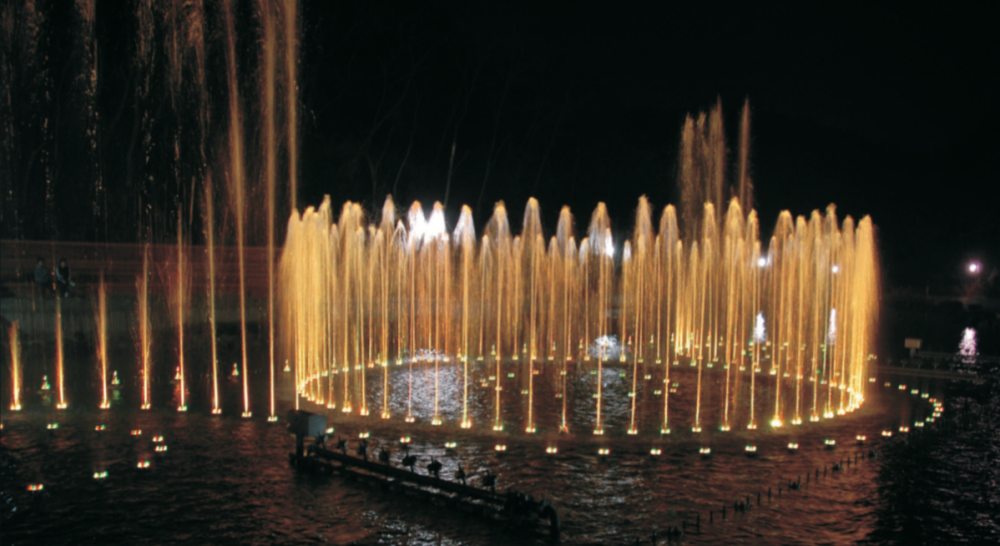 Image of: Commercial Water Fountains Lighting