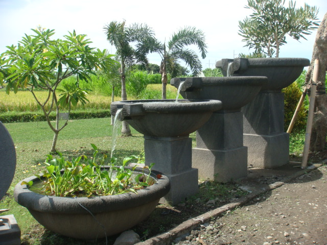Image of: Concrete Water Fountain Basins