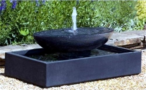 Image of: Concrete Water Fountain Bowl