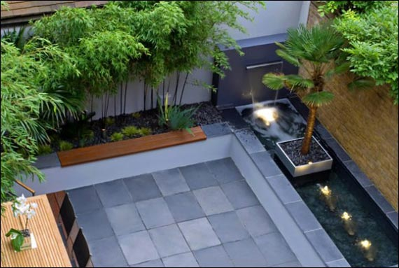 Image of: Concrete Water Fountains Garden