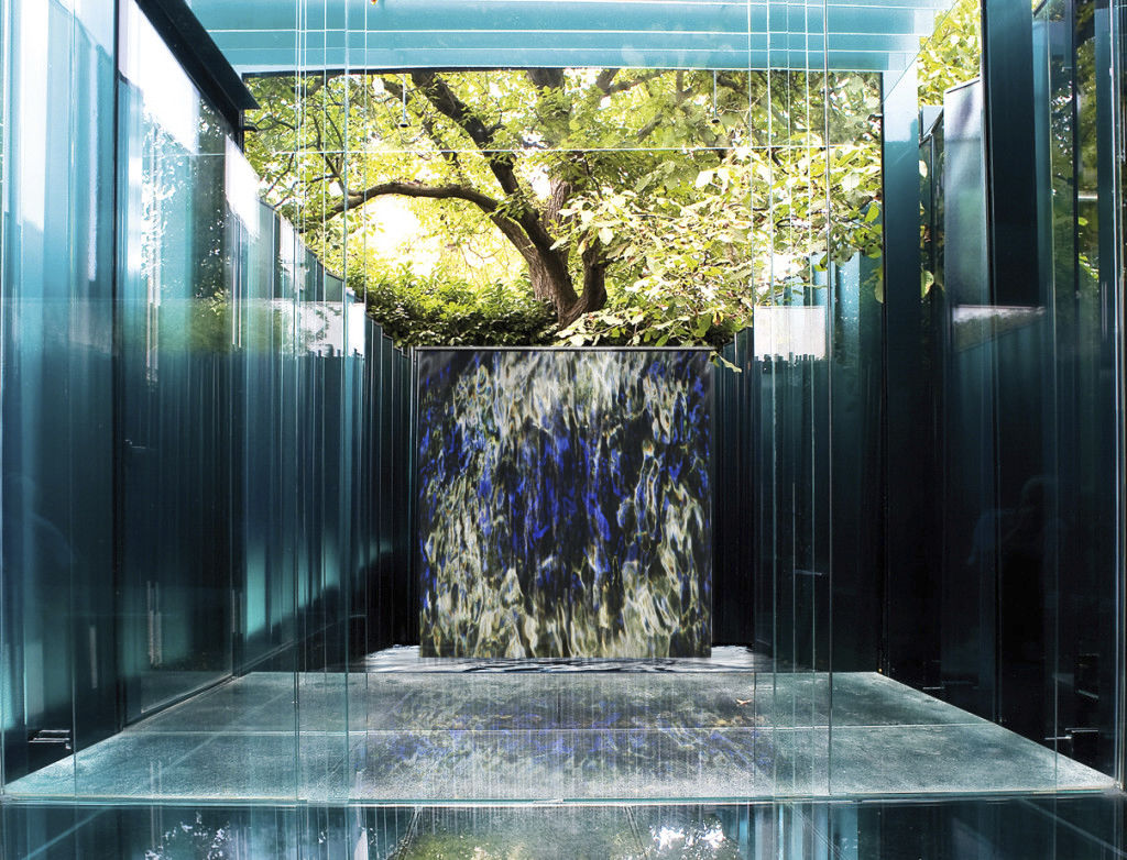 Image of: Contemporary Blue Fountain Style