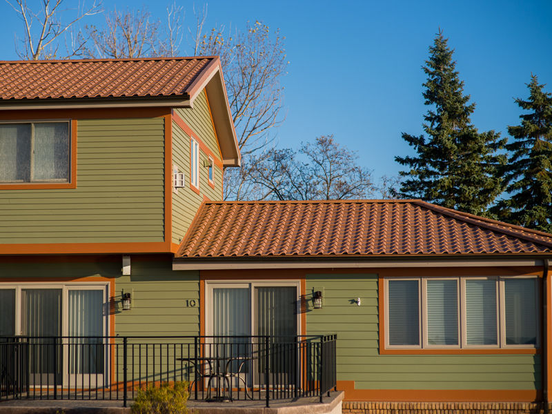 Contemporary Brown Metal Roof