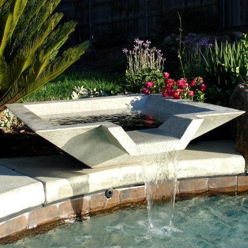 Contemporary Outdoor Fountains Pool