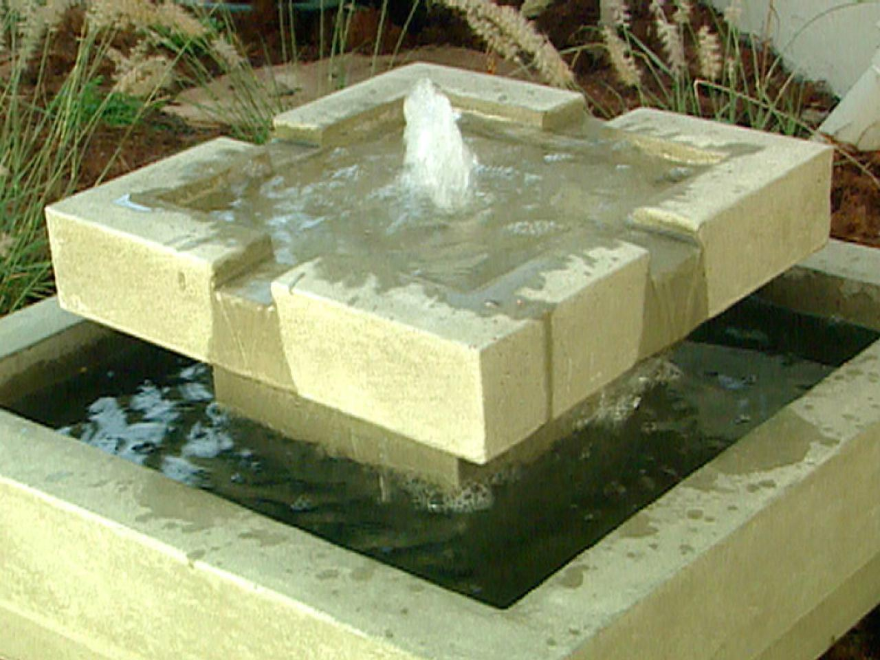 Image of: Contemporary Outdoor Water Fountains Ideas