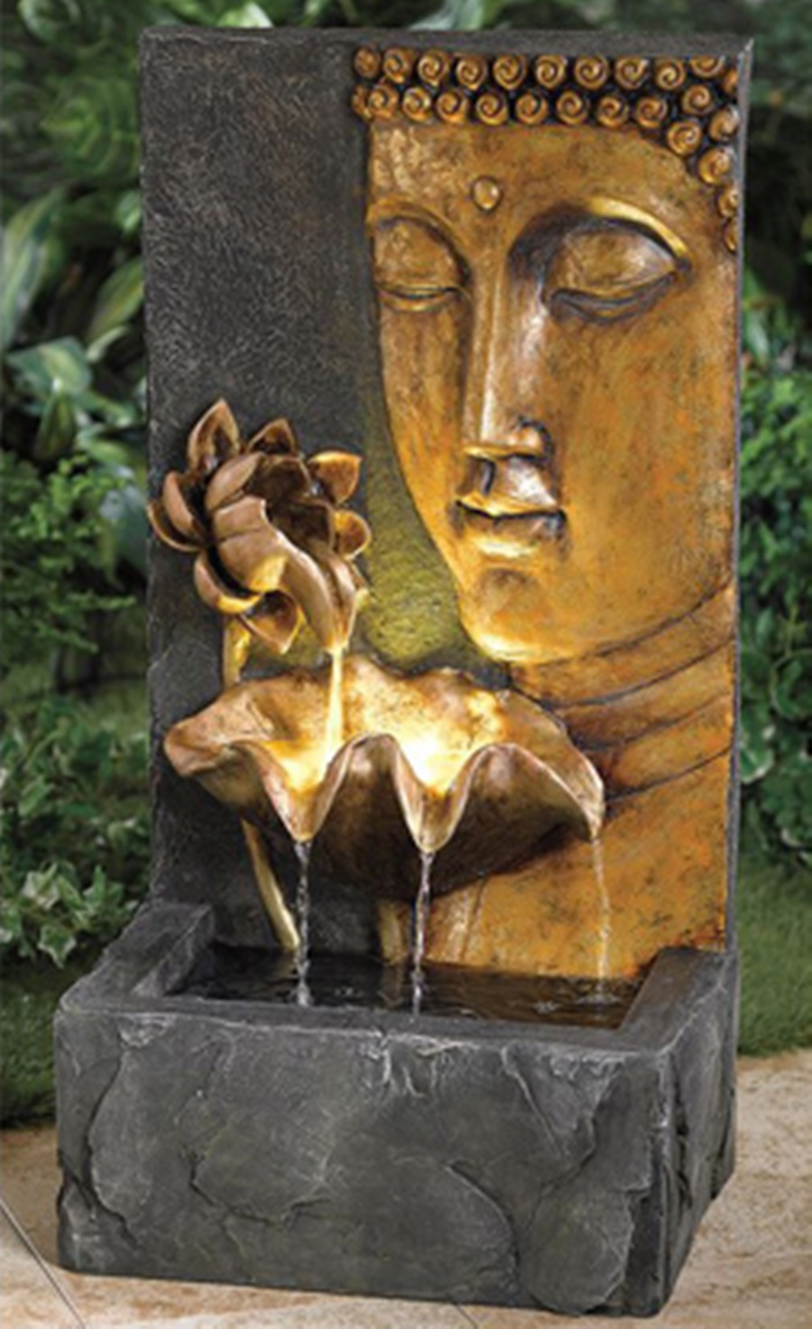 Image of: Cool Tabletop Buddha Water Fountain