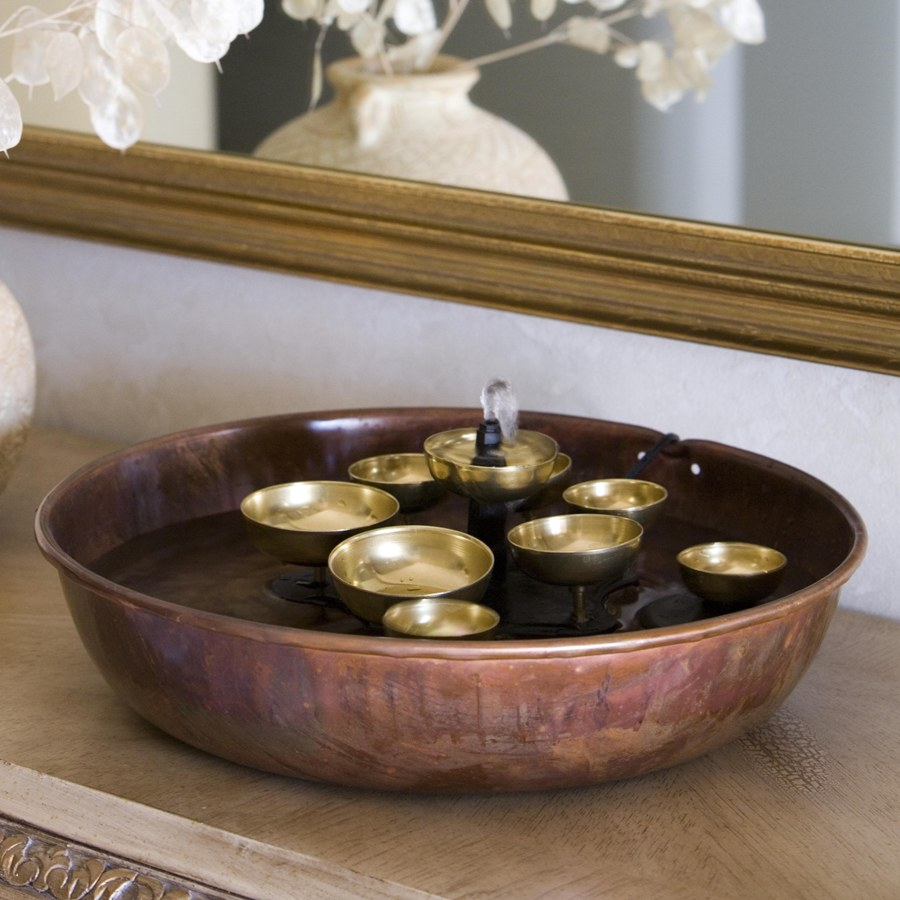 Image of: Copper Battery Operated Fountain