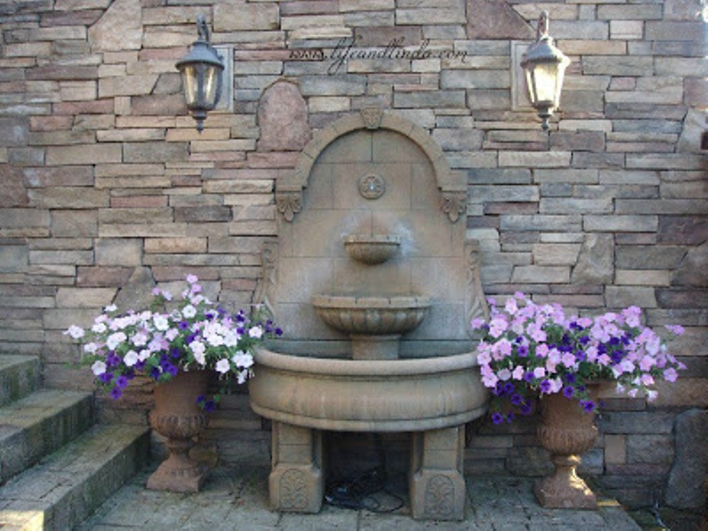 Image of: Copper Fountain Cleaning