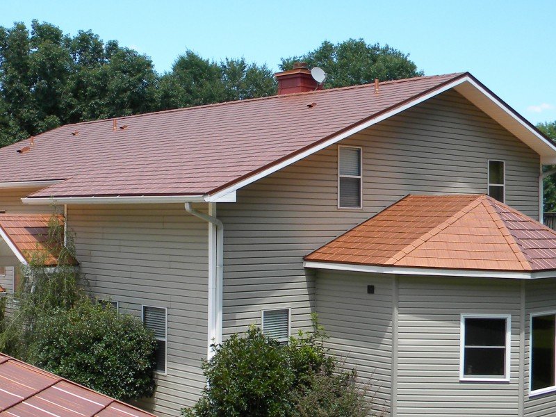 Image of: Copper Metal Roof Designs