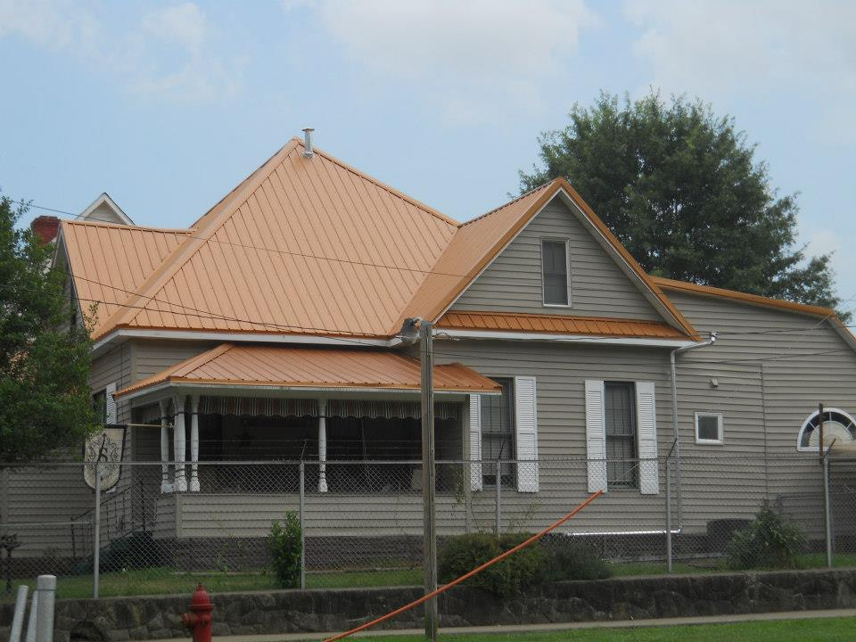 Image of: Copper Metal Roof Home