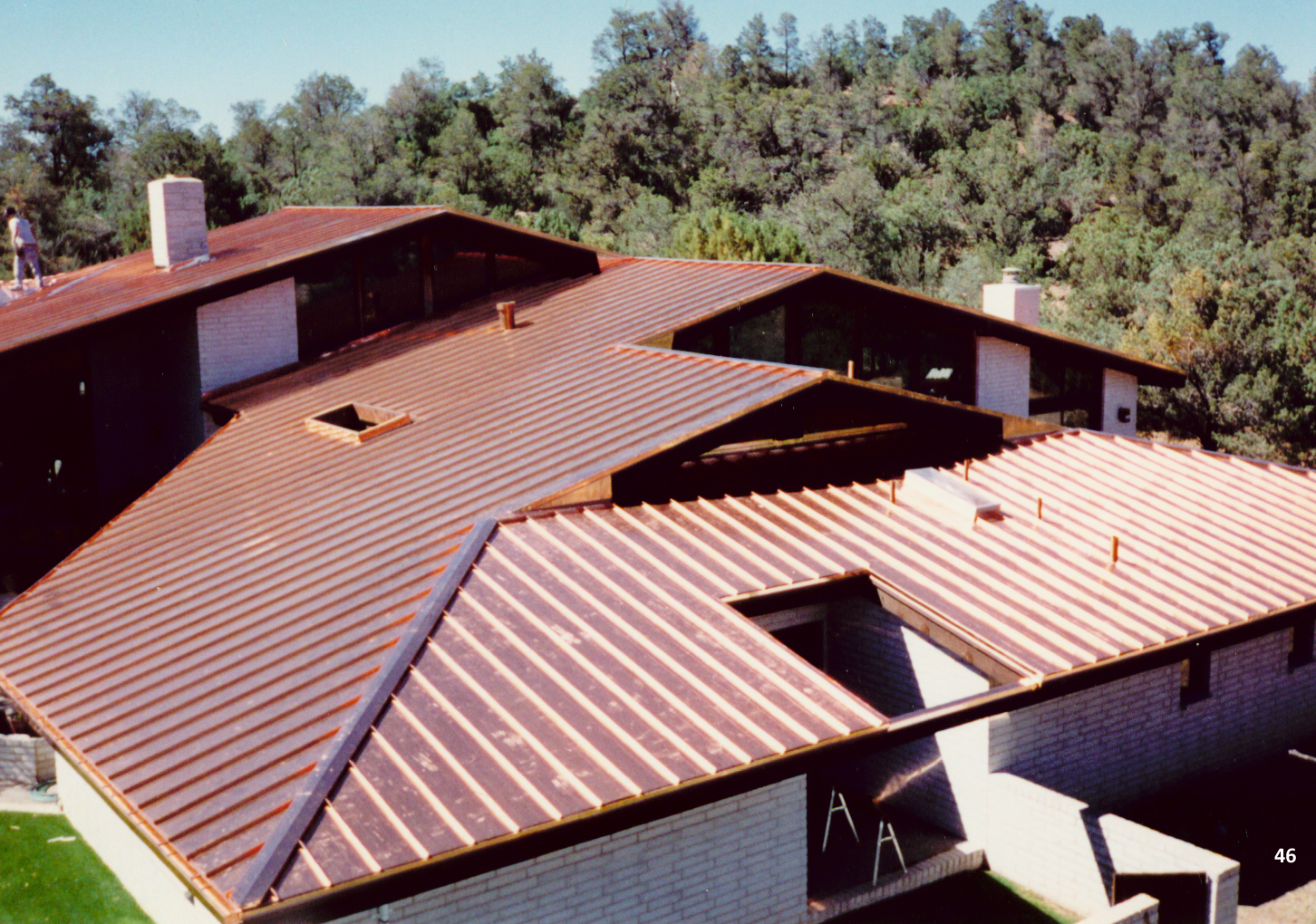 Image of: Copper Metal Roof Ideas