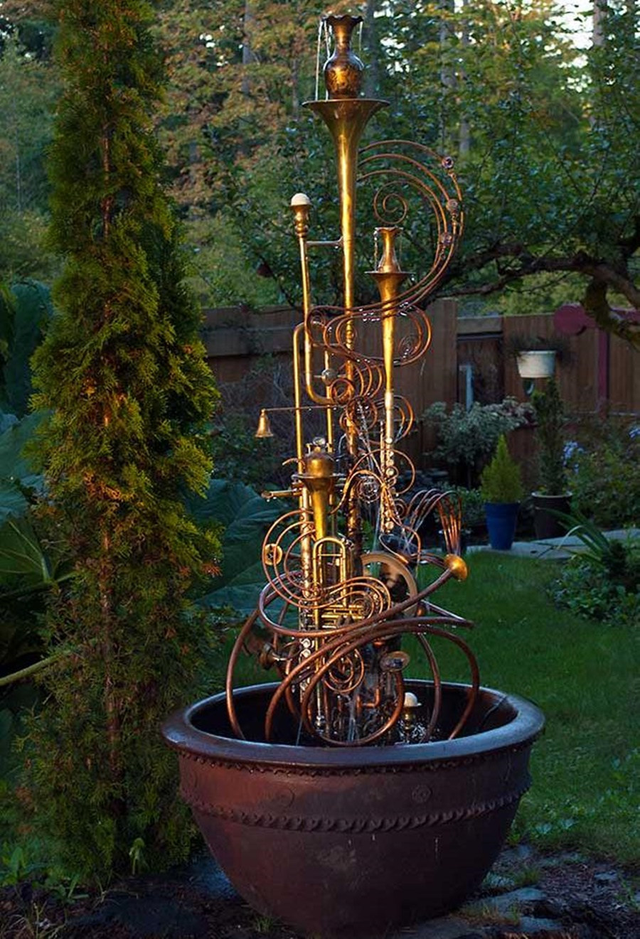 Image of: Copper Water Fountain Designs