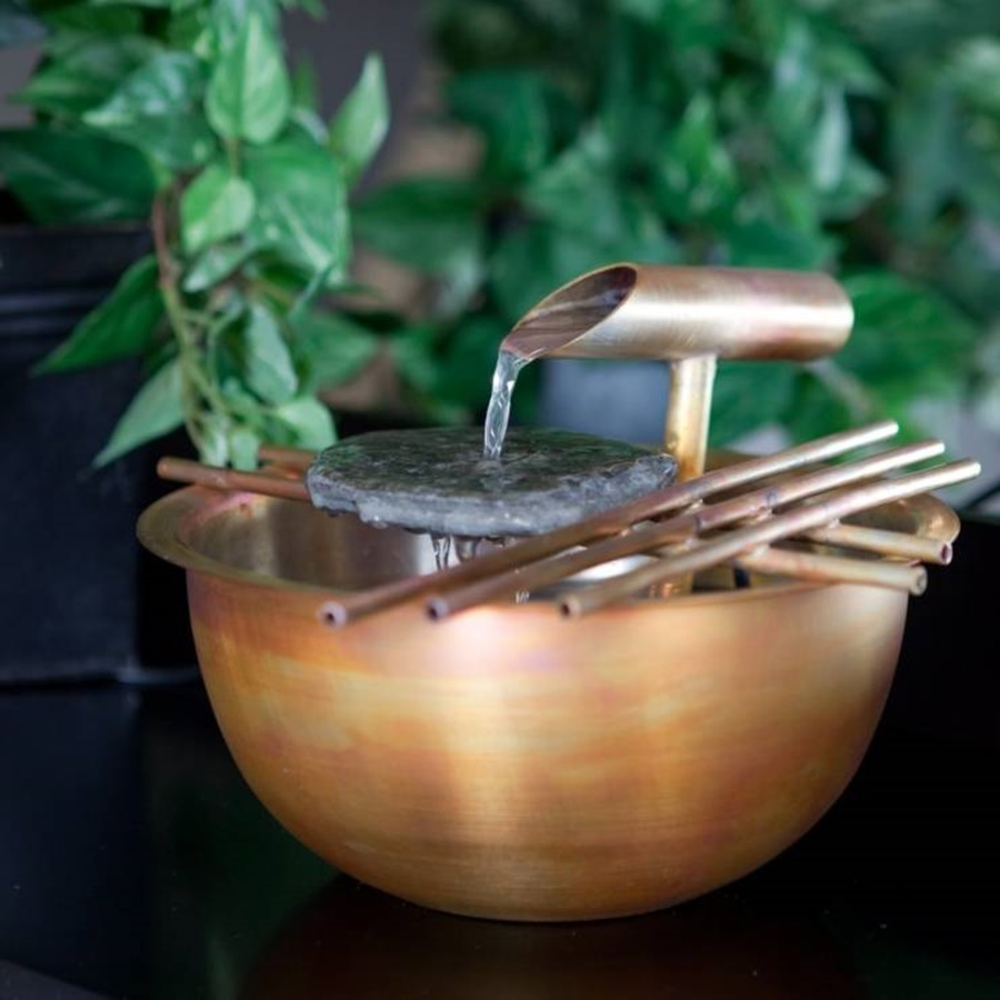 Image of: Copper Water Fountain Tabletop