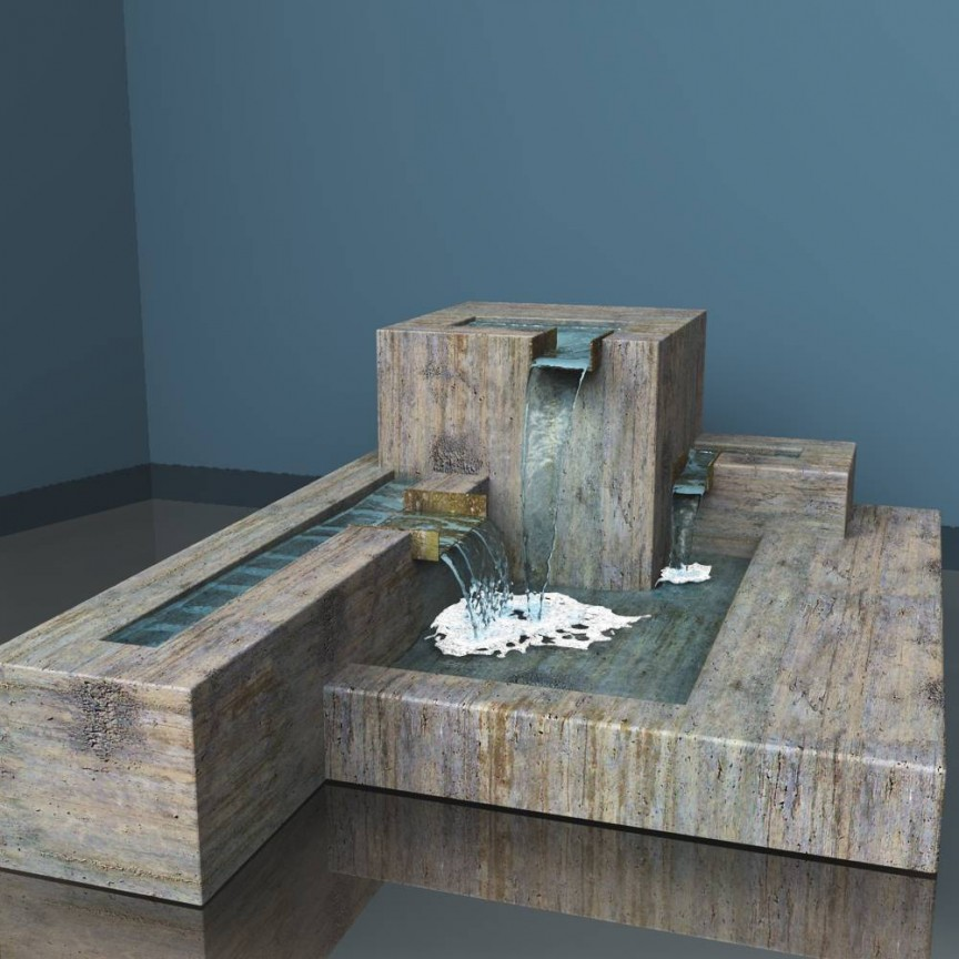 Image of: Cubic Contemporary Fountains