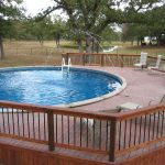 Deck Above Ground Pool Fountain