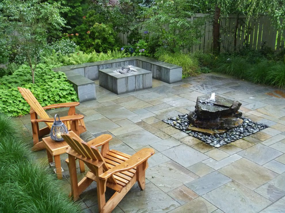 Image of: Deck Fountains Stones