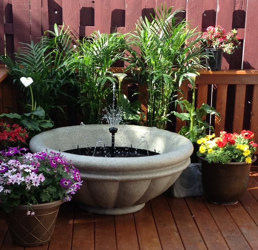 Image of: Deck Fountains Type