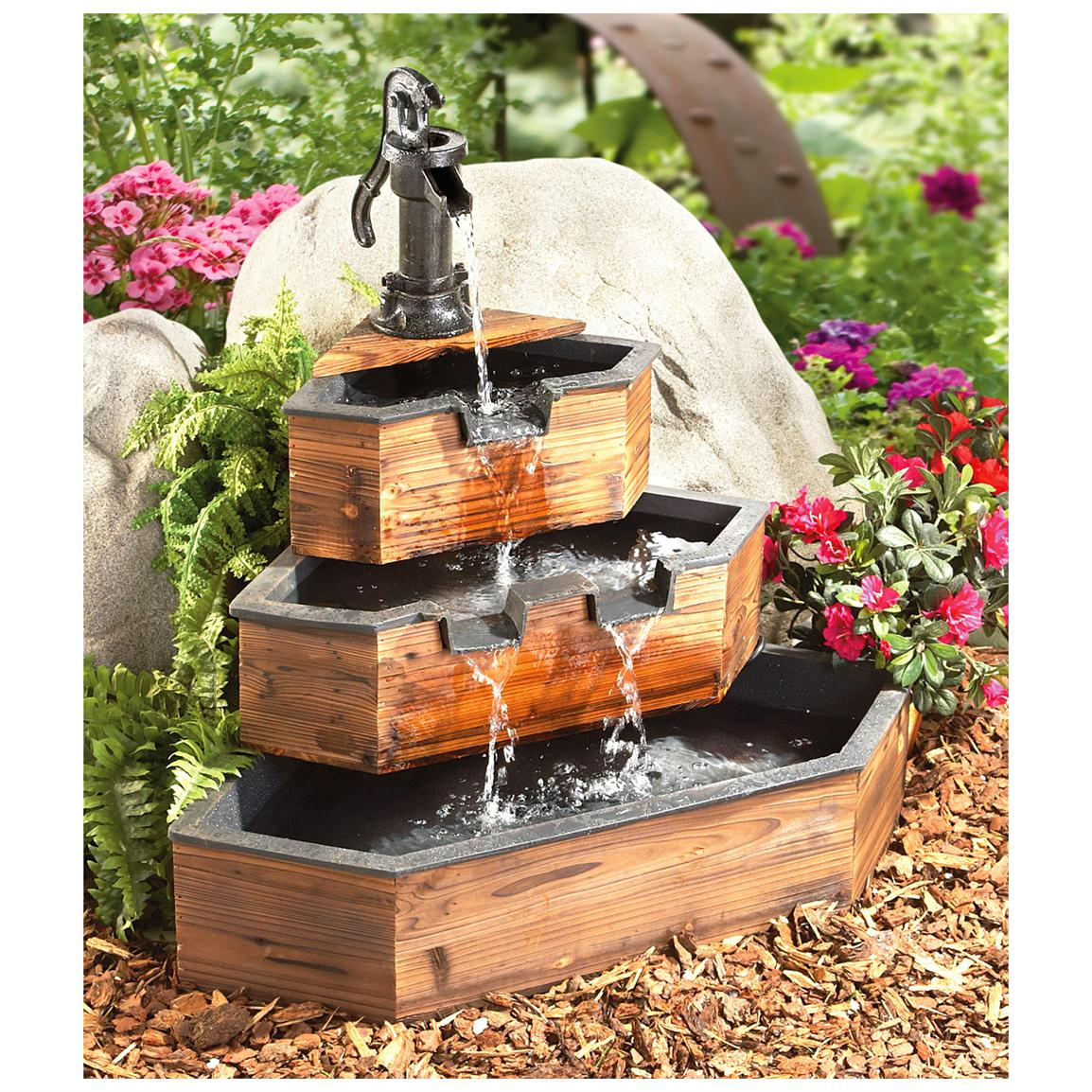 Image of: Decorative Barrel Water Fountain