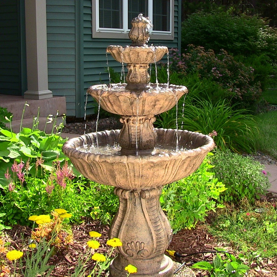 Image of: Decorative Outdoor Water Fountains Ideas Carved Stones