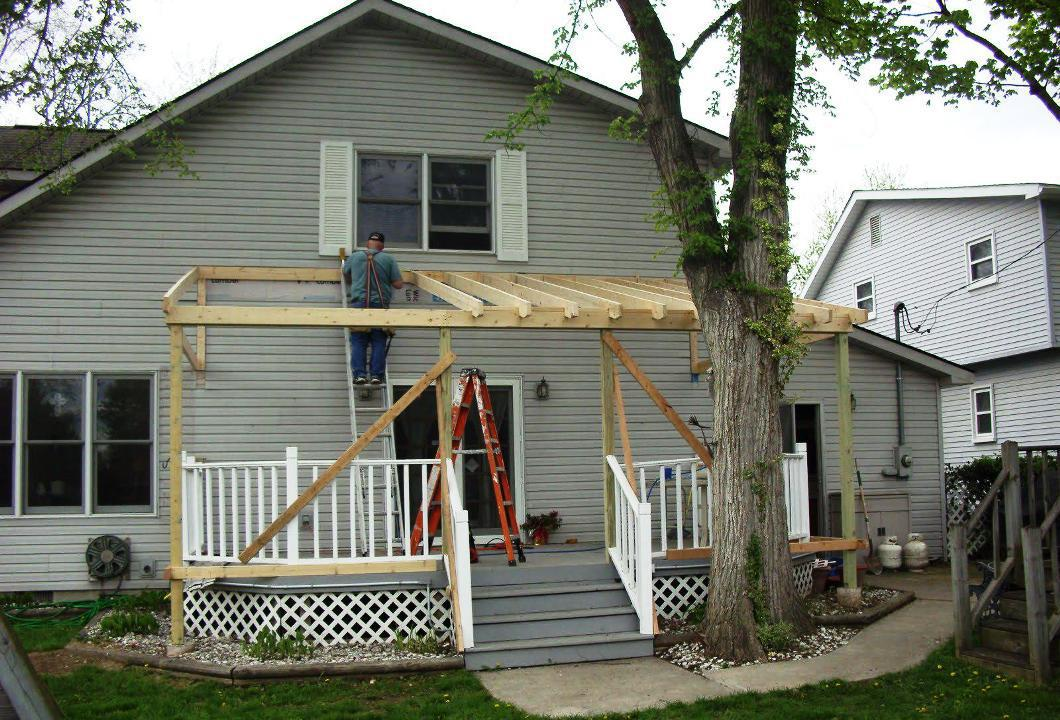 Image of: Diy Building a Roof Over a Deck