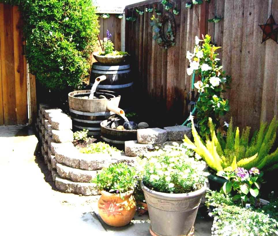 Image of: Diy Garden Fountain