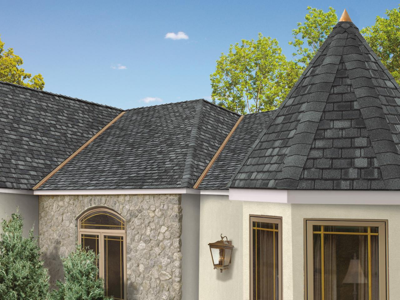 Image of: Exterior Architectural Roofing Shingles
