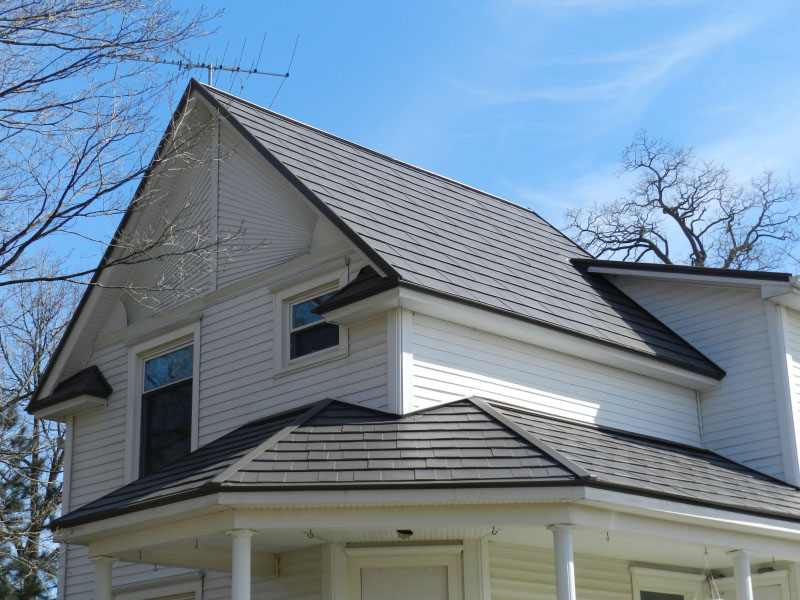 Image of: Famous Charcoal Gray Metal Roof