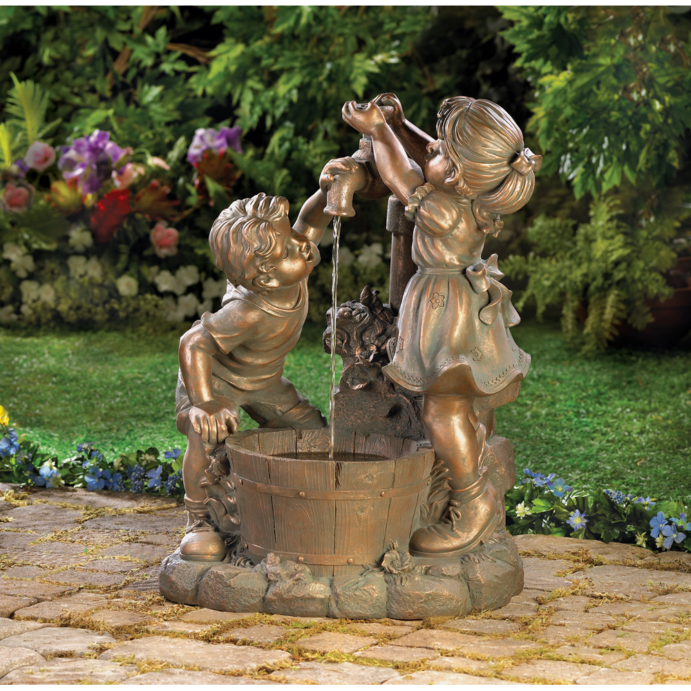 Image of: Fun Backyard Water Fountains