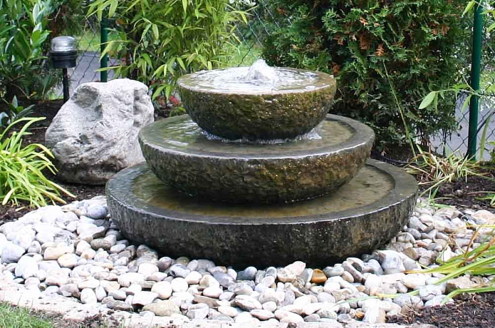 Image of: Garden Backyard Water Fountains