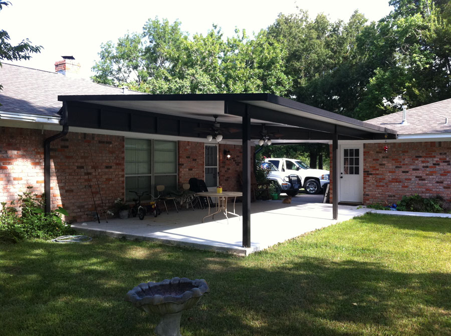 Image of: House Aluminum Patio Roof