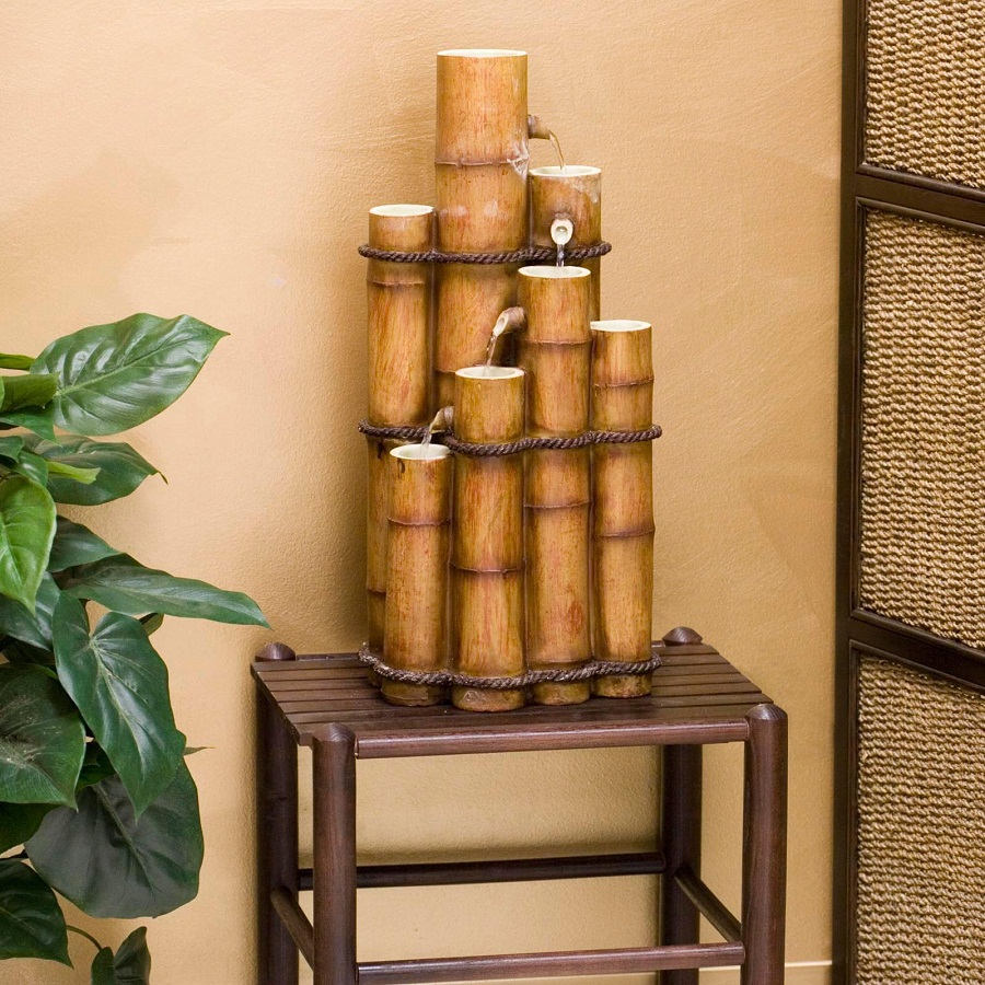 Image of: Indoor Bamboo Fountain