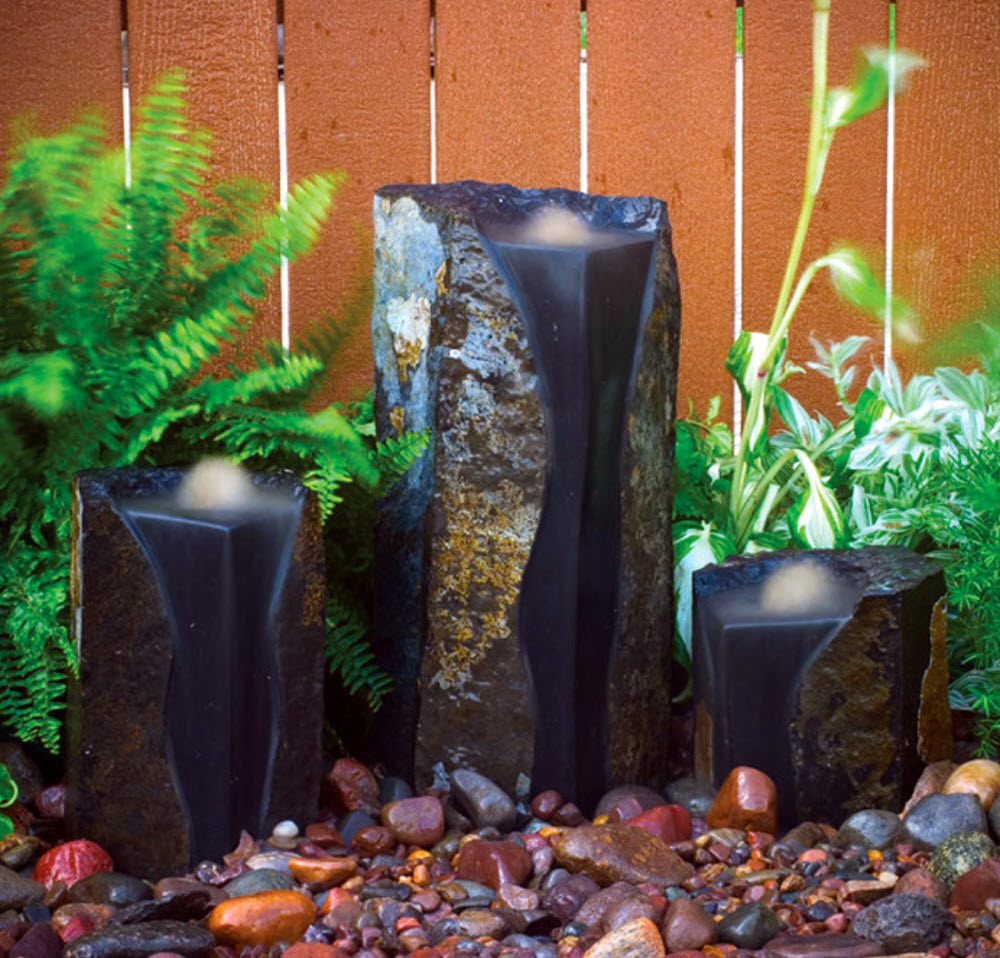 Image of: Indoor Basalt Column Fountain