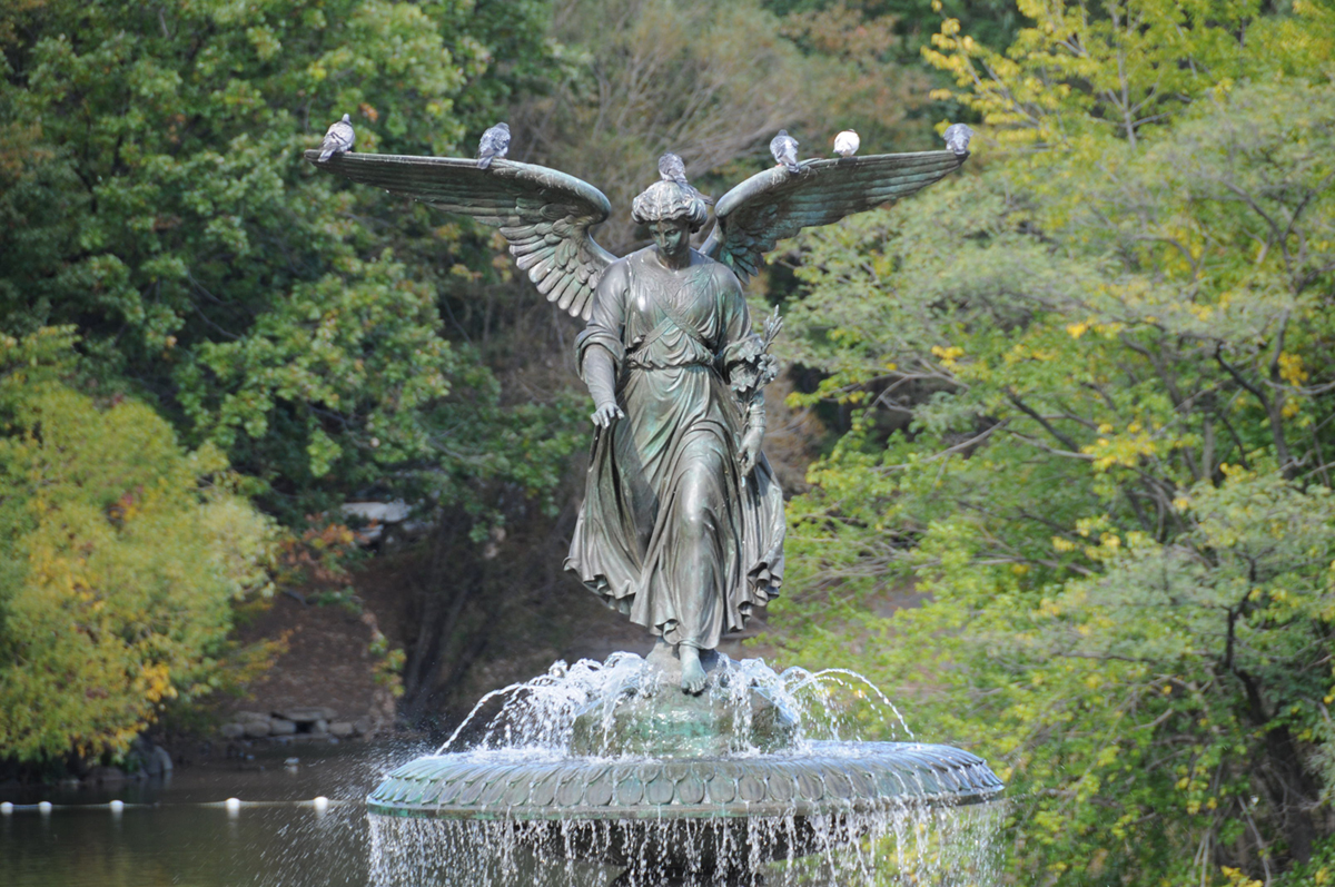 Image of: Large Angel Water Fountain