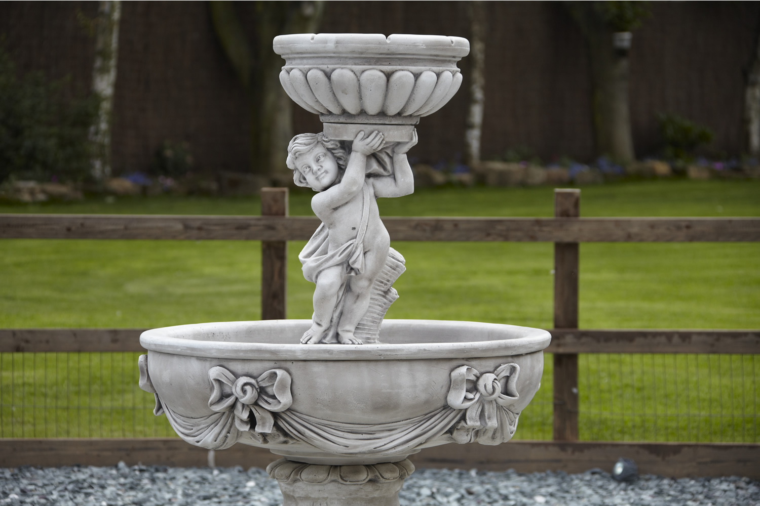 Image of: Large Cherub Fountain