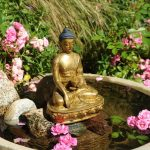 Laughing Buddha Outdoor Fountain