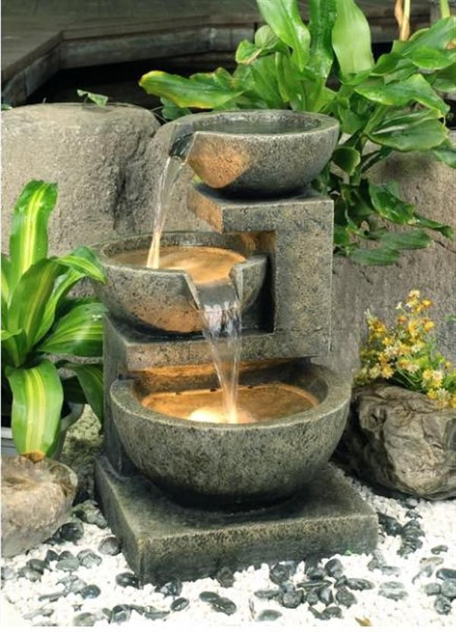 Image of: Modern Backyard Fountain