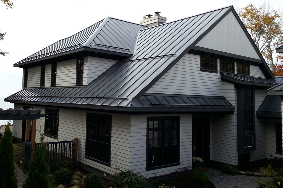 Modern Charcoal Gray Metal Roof