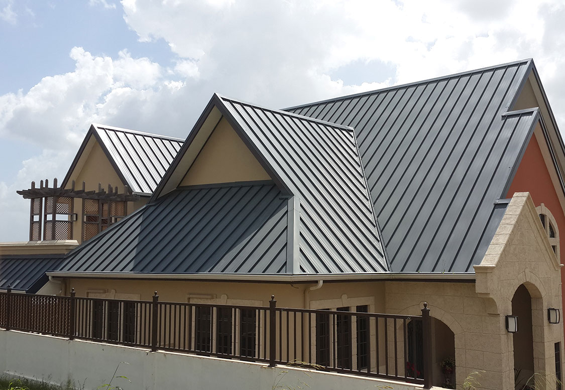 Image of: New Charcoal Gray Metal Roof