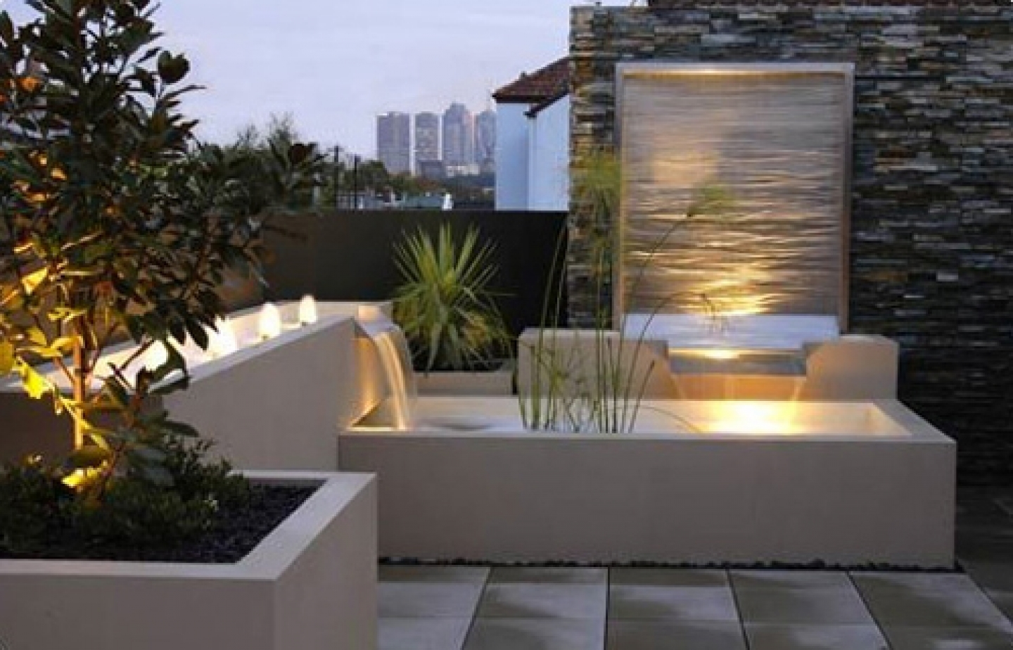 Image of: New Contemporary Outdoor Water Fountains