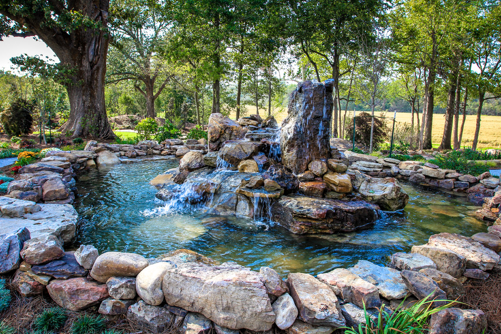 Image of: Nice Boulder Fountain